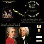 Festival Francesco Alviti, musica per giovani, Bach & Mozart, Ceccano 30 giugno, ore 21,30.