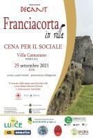 """Il 25 settembre torna a Fondi (LT) """"Franciacorta in villa"""" in una nuova veste e con un nuovo format per il sociale."""