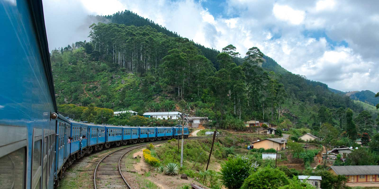 Roll through Sri Lanka via train and see it's pretty countryside. Bonus: Make your friends jealous with a selfie on Sri Lanka's popular blue trains.