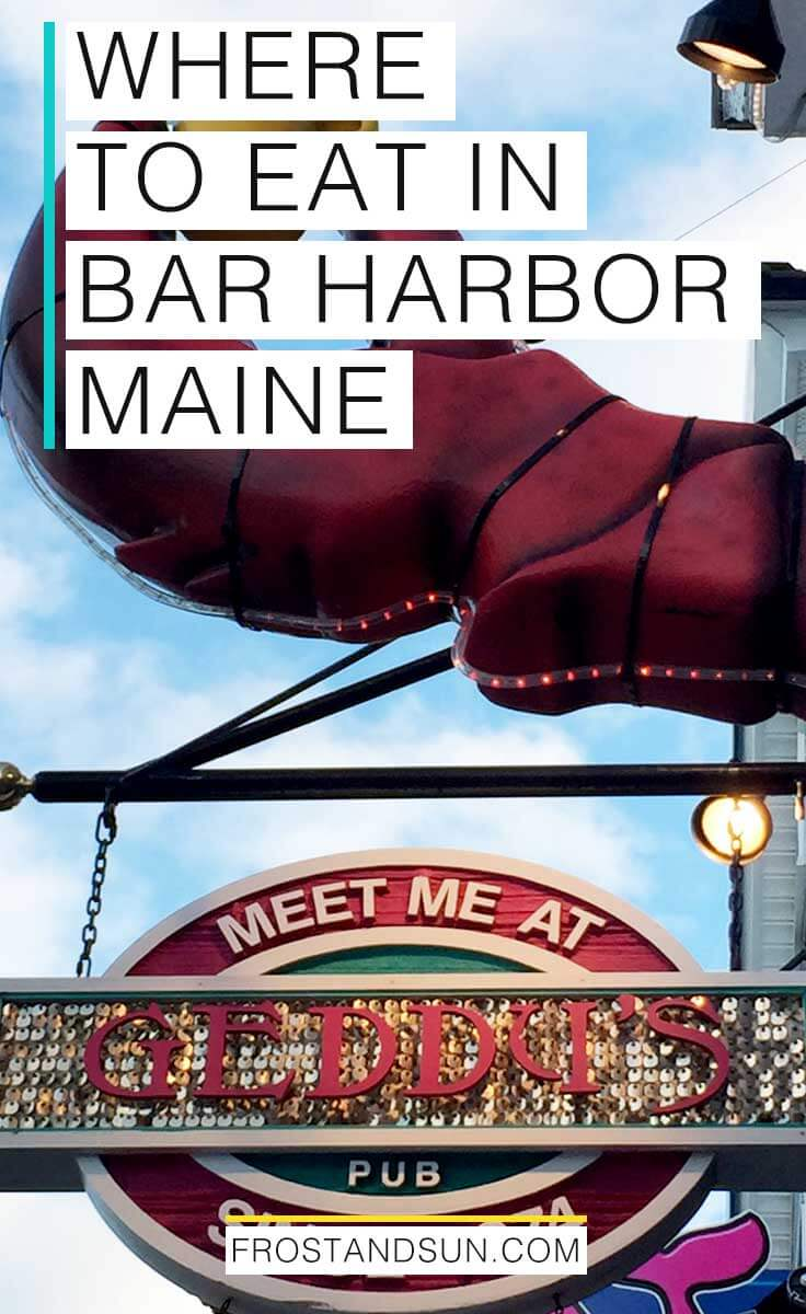 Bar Harbor has a ton of restaurants, cafes, and sweets shops, making it a perfect vacation for foodies. Check out all the delicious places to eat in Bar Harbor, Maine. #barharbor #maine #newengland