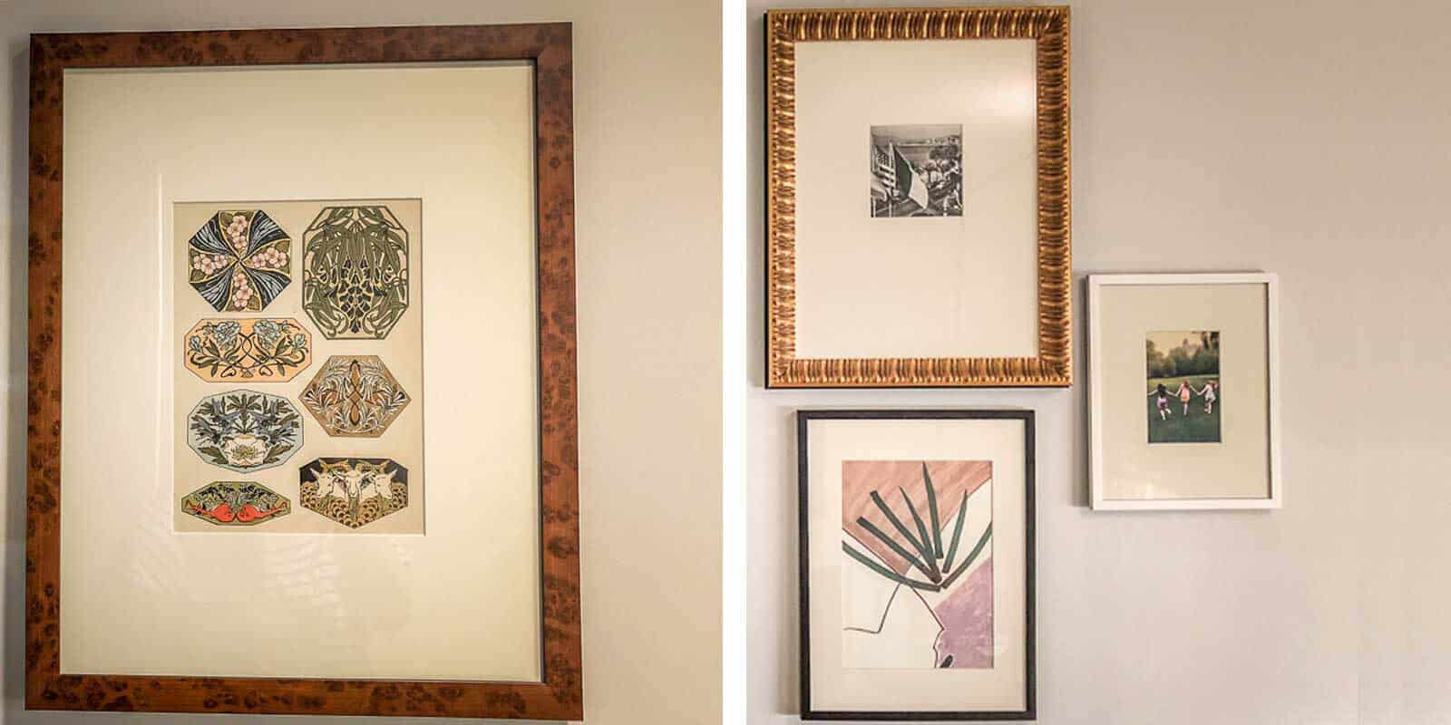 Photo collage of vintage artwork found in a Park MGM hotel room.