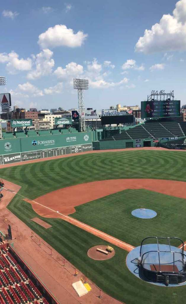 View of Fenway Park from the stands.