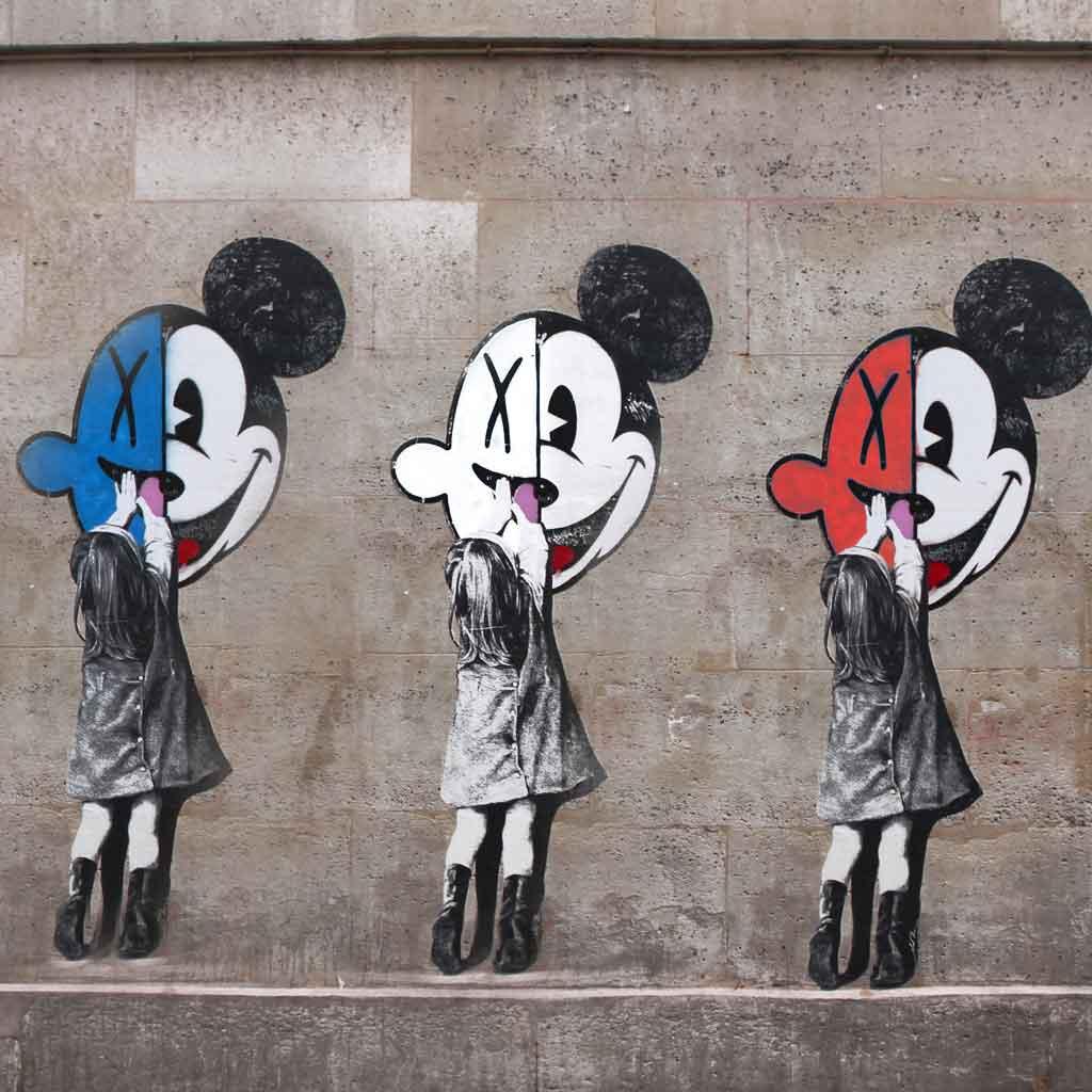 Photo of street art found in Le Marais in Paris