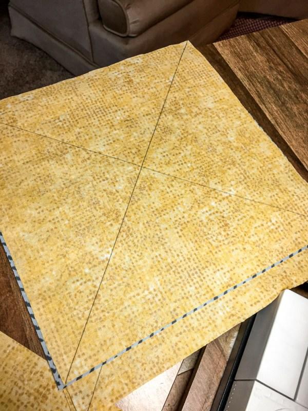 Pinwheel Quilt marks