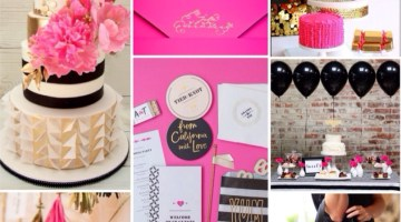 Party Inspiration Pink Black and Gold www.frostedevents.com