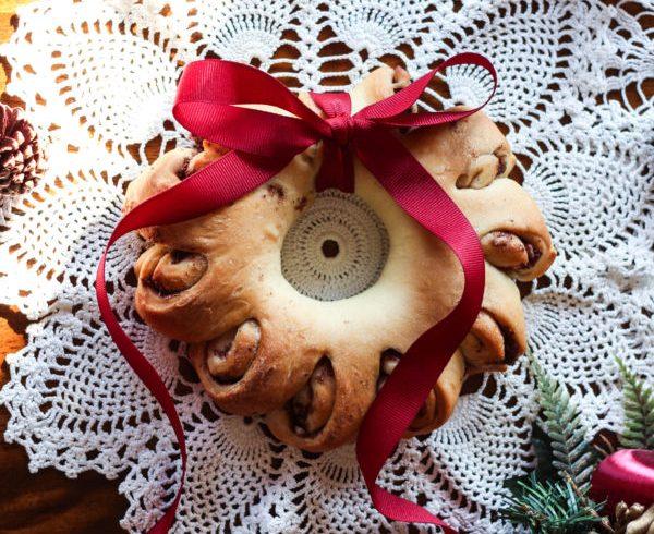 Pomegranate Rosemary Bread Wreath-15672