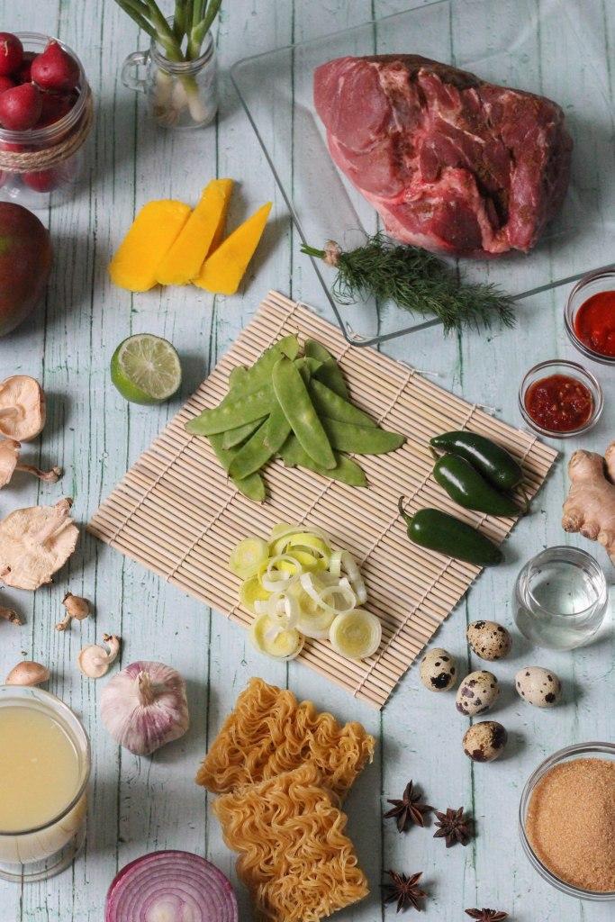 crock pot, recipe, ramen, braised pork