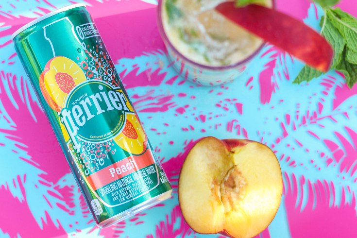 Peach Coconut Mojito, Mojito, Perrier Peach