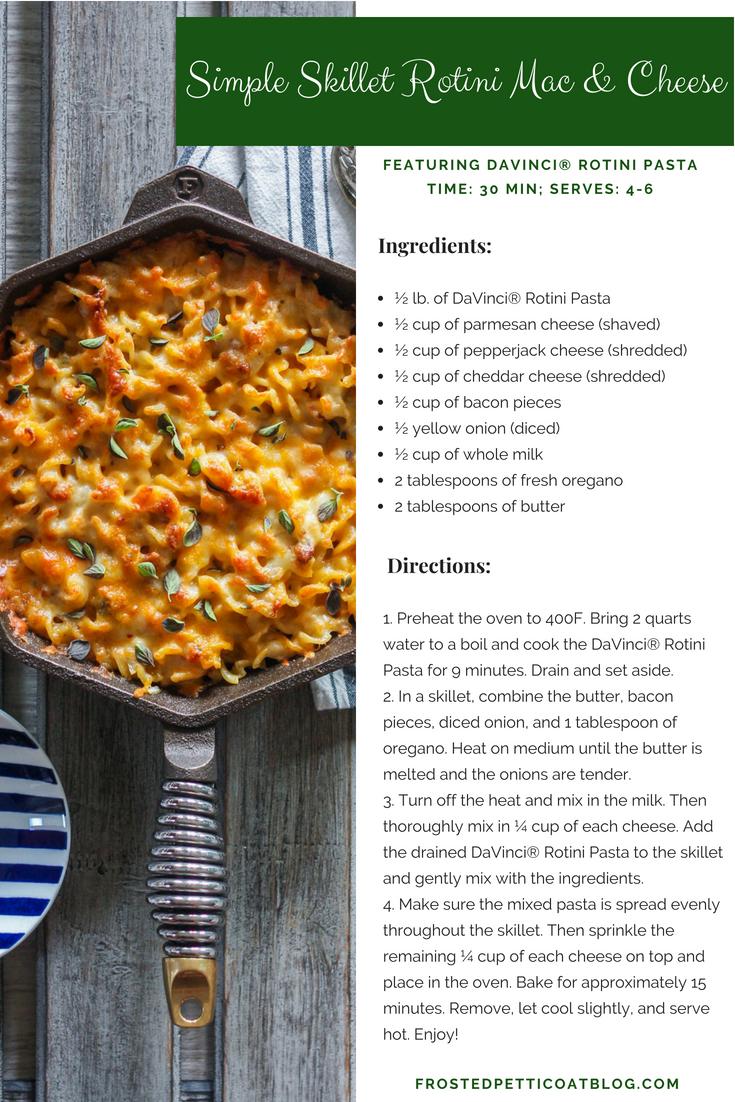 Simple Skillet Rotini Mac & Cheese