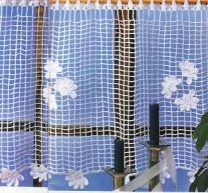 photo rideau plumetis de fleurs