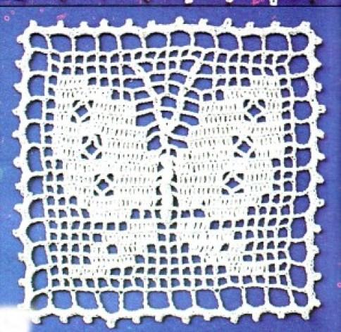 carré patchwork papillon