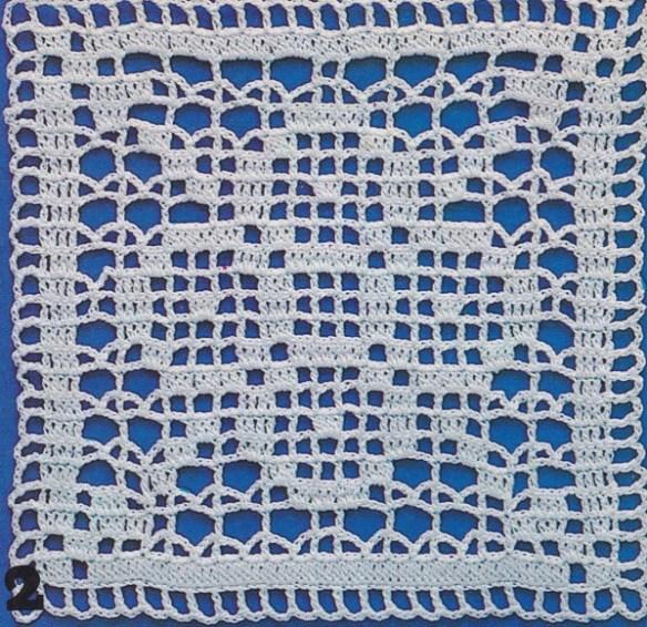Crochet Motif Patchwork Carré N6 Croix Tutoriel Gratuit