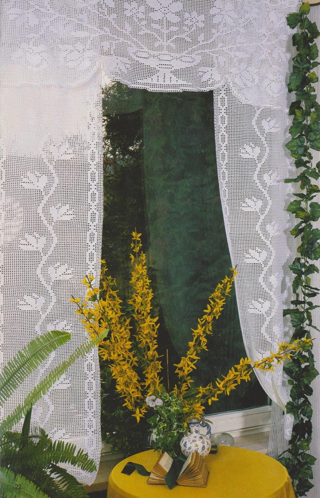CROCHET : rideaux avec cantonnière TUTORIEL GRATUIT