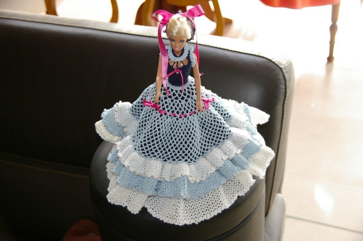 CROCHET : robe Princesse Froufrous pour Barbie TUTORIEL GRATUIT