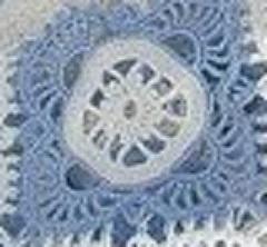 Et le motif B avec le centre blanc.