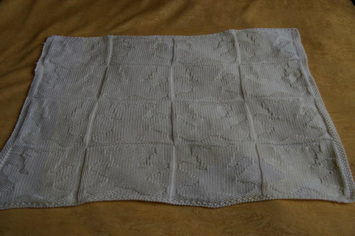 TRICOT layette : plaid carré oursons TUTORIEL GRATUIT