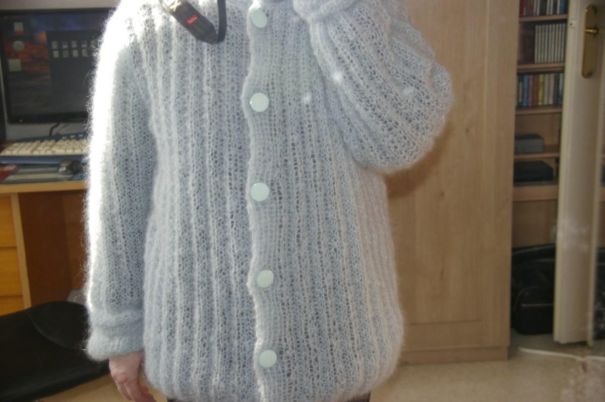 TRICOT : veste vaporeuse mohair et soie TUTORIEL GRATUIT