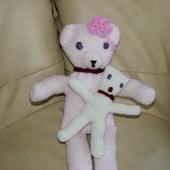 DOUDOU AU TRICOT : maman ours rose pastel TUTORIEL GRATUIT - Le blog de crochet et tricot d'art de Suzelle