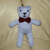 DOUDOU AU TRICOT : papa ours bleu pastel TUTORIEL GRATUIT - Le blog de crochet et tricot d'art de Suzelle