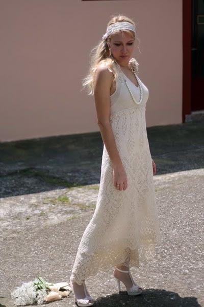 TRICOT SHETLAND : ma robe de Mariée TUTORIEL GRATUIT