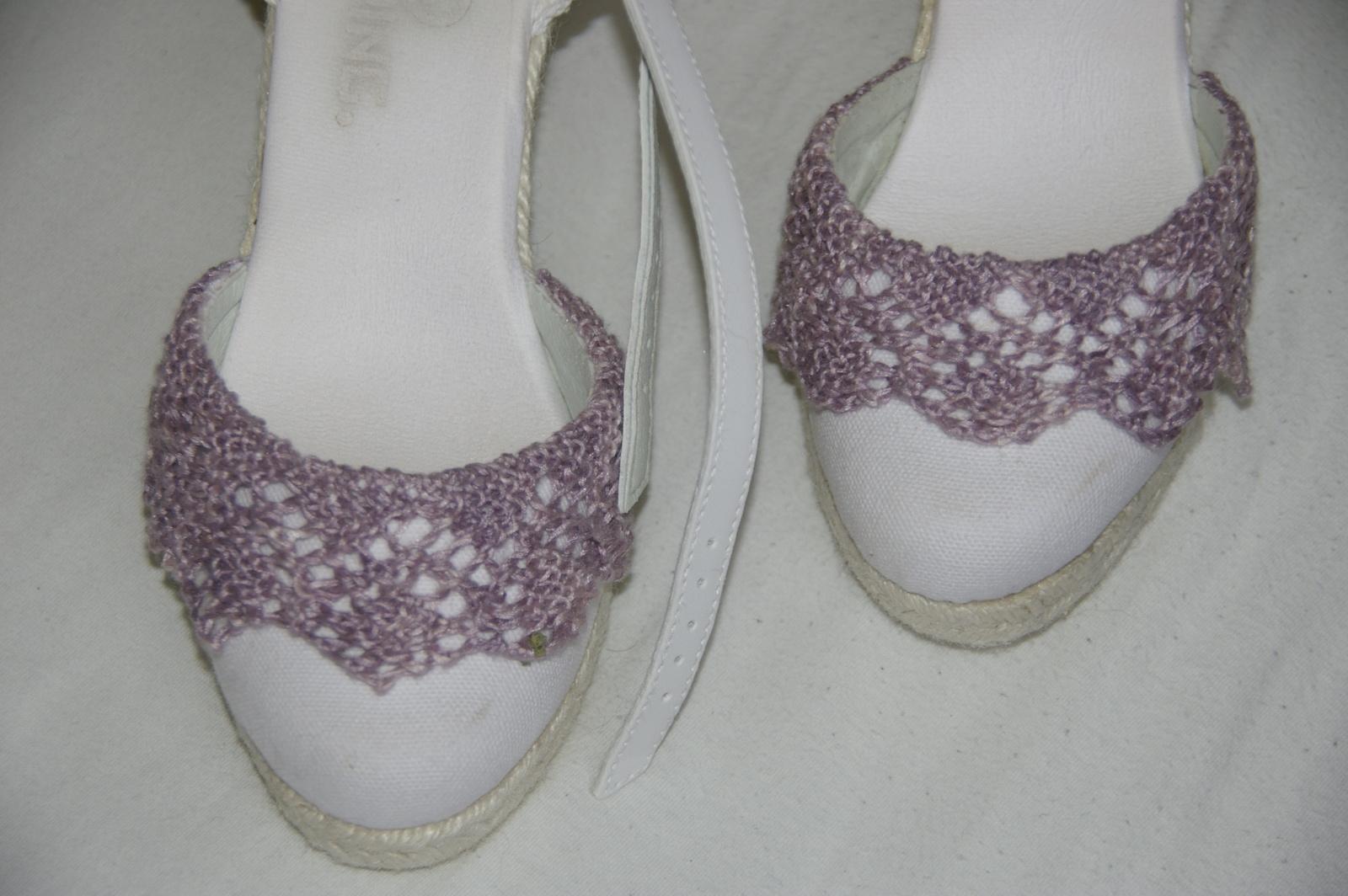 TRICOT : dessus de chaussures de Mariée TUTORIEL GRATUIT
