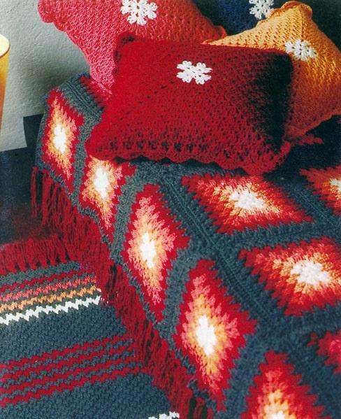 CROCHET : ensemble couverture, tapis et coussins TUTORIEL GRATUIT