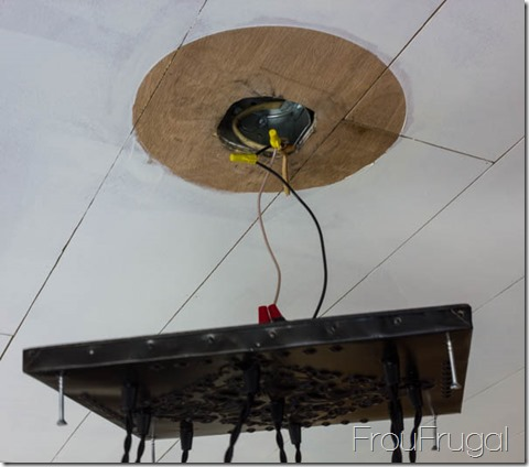 Wiring Bare Edison Bulb Chandelier To Ceiling