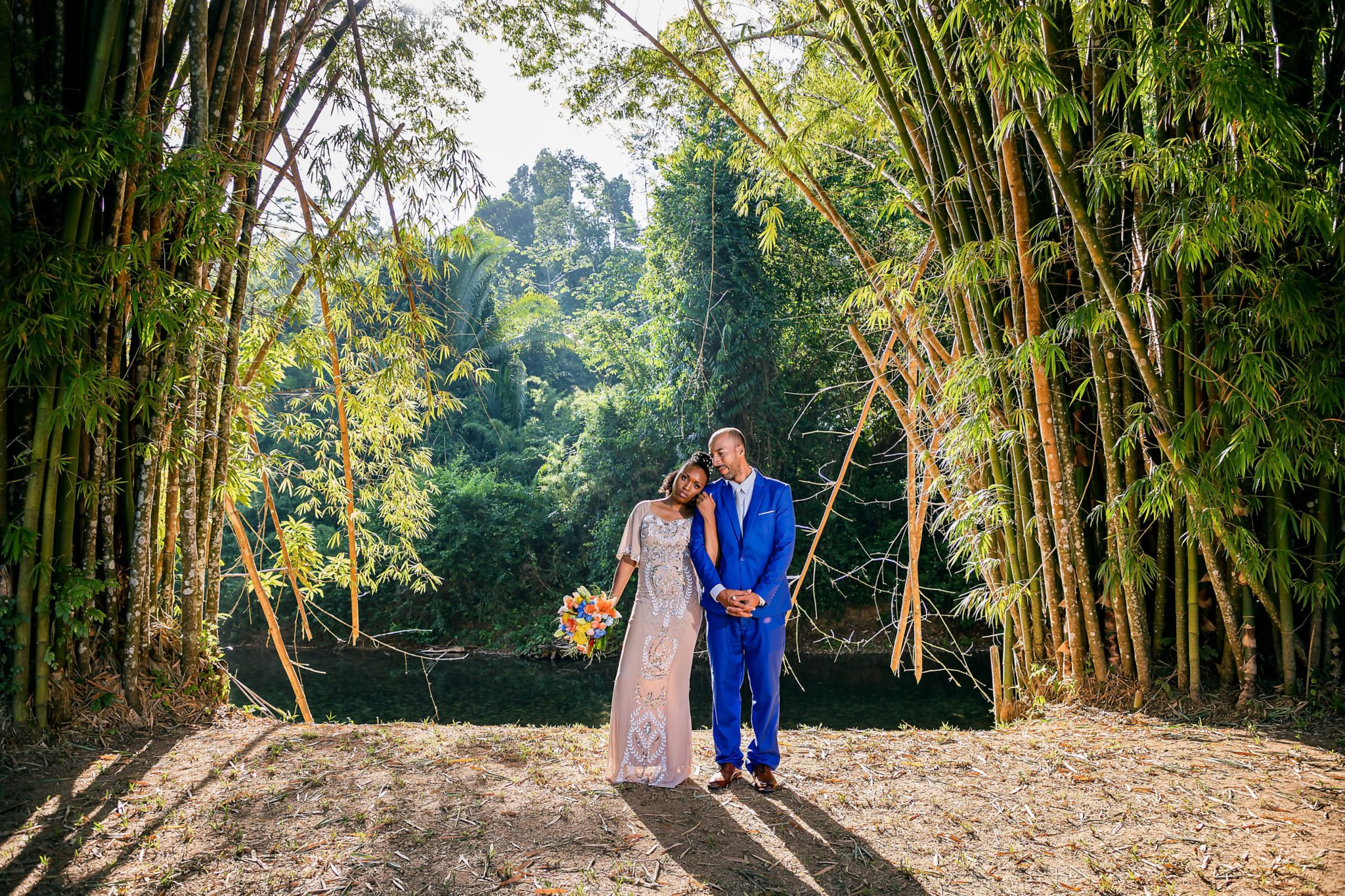 Jorge+Galissa- Early morning jungle river wedding