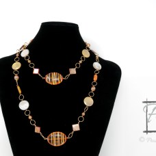 Cointreau orange and gold rope necklace