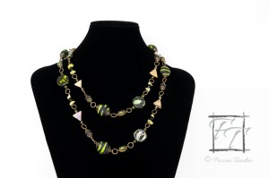I Dream in Chartreuse rope necklace