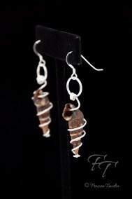 best friends snail shell earrings in silver, Batillaria zonalis, Japanese False Cerith Snail