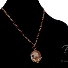 ancient forest sunset ancient life petrified wood fossil pendant in copper