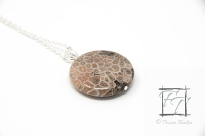 ancient seas fossil coral pendant necklace