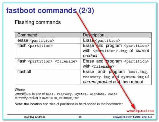 Fastboot commands