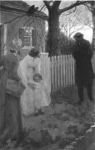 """""""The children fled from his approach"""", illustration by Elenore Abbott, 1900"""