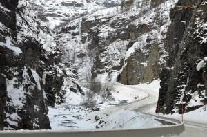 Kloof bij Alta Rivier, Noorwegen, Fru Amundsen