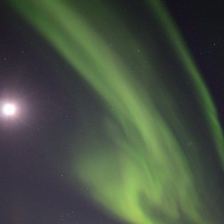 Noorderlicht met volle maan Foto: Fru Amundsen ©