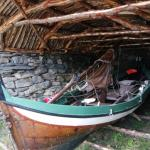 Samische cultuur boothuis Noord-Noorwegen