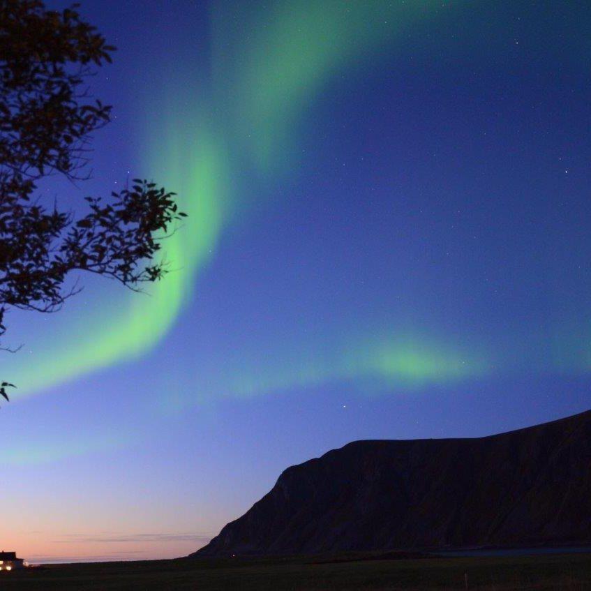 Noorderlichtreis Lofoten, zonsondergang