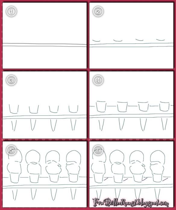 FruBilledkunst - isvafler - tutorial