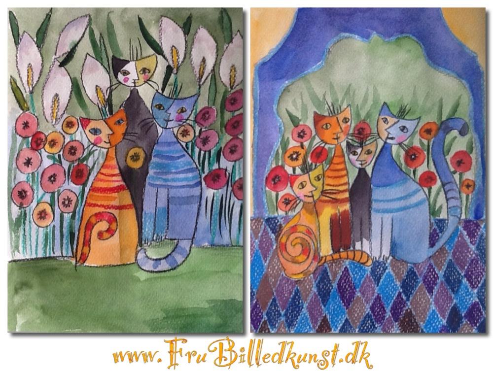 Katte - Wachtmeister style - FruBilledkunst (1)