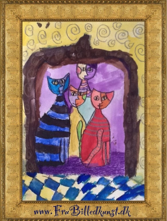 Katte - Wachtmeister style - FruBilledkunst (2)