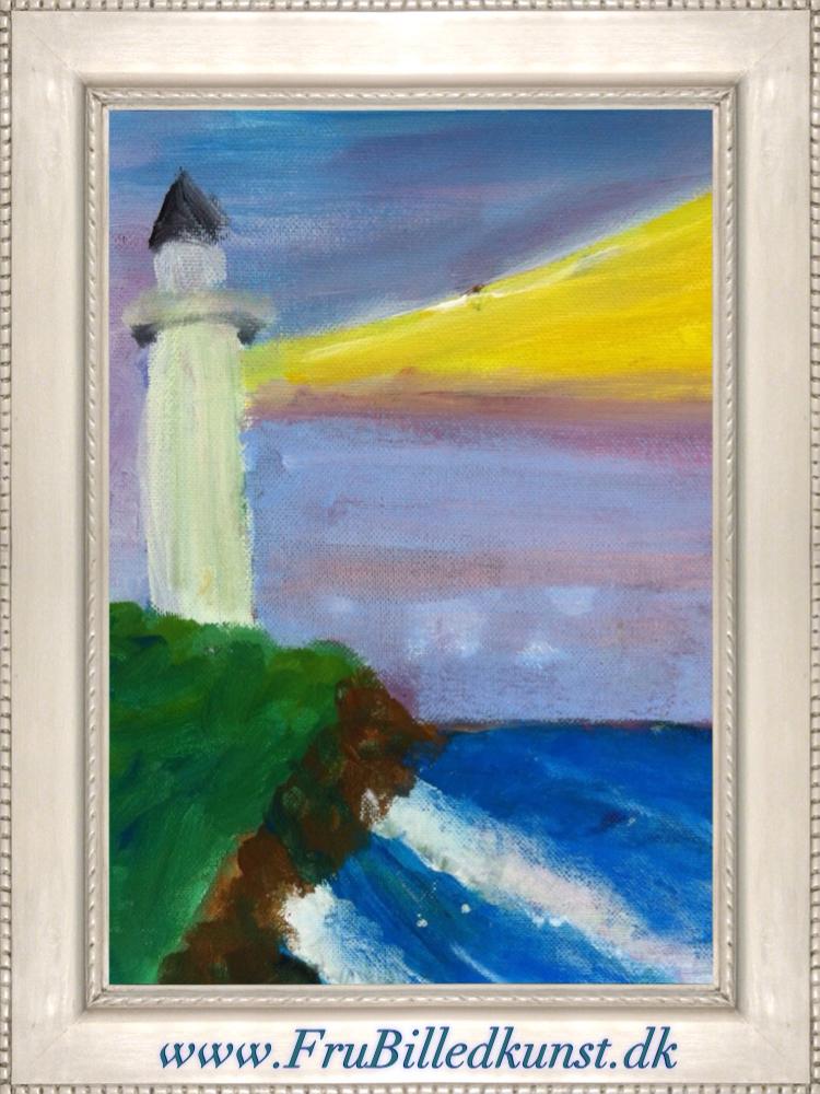 Frubilledkunst lighthouse 1st grade