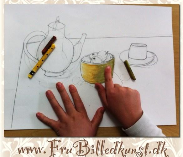 www.FruBilledkunst.dk - still life 4th grade