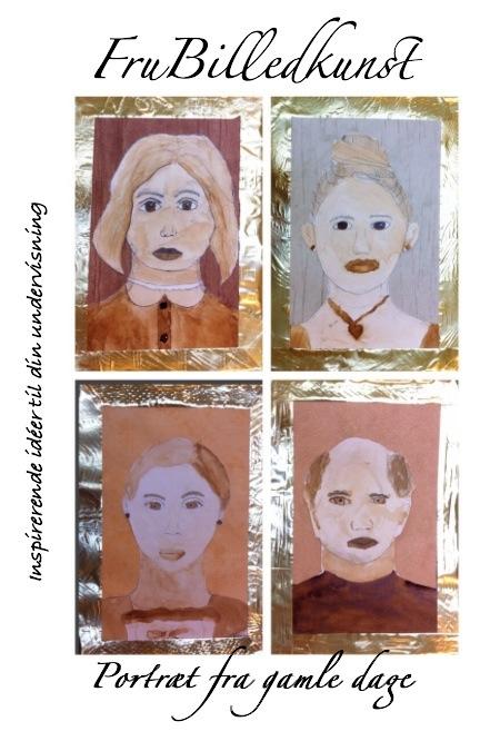 portræt fra gamle dage - forside