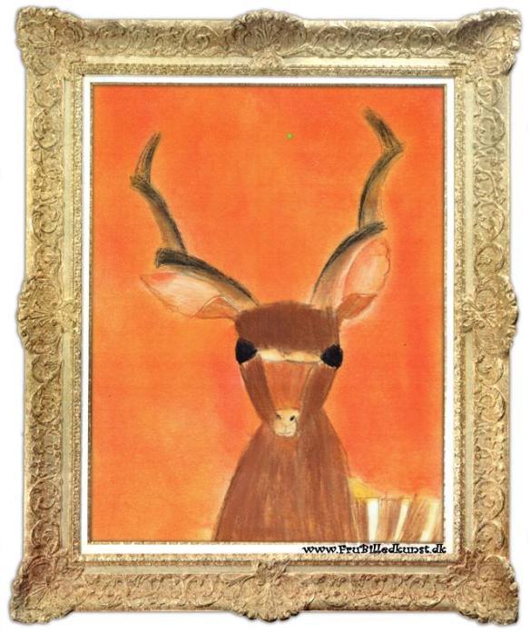 www.FruBilledkunst.dk - antilope 2