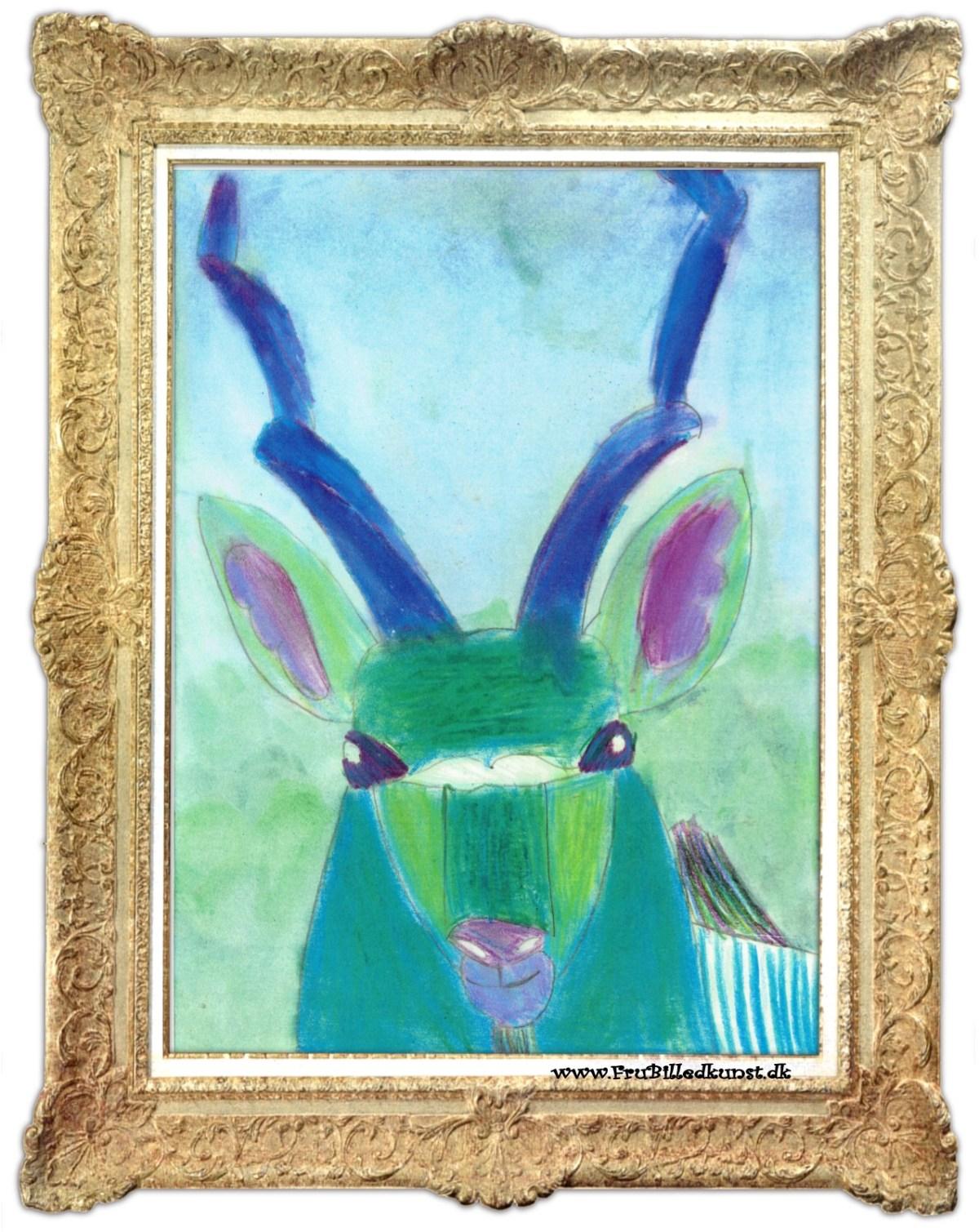www.Frubilledkunst.dk - great kudu art lesson