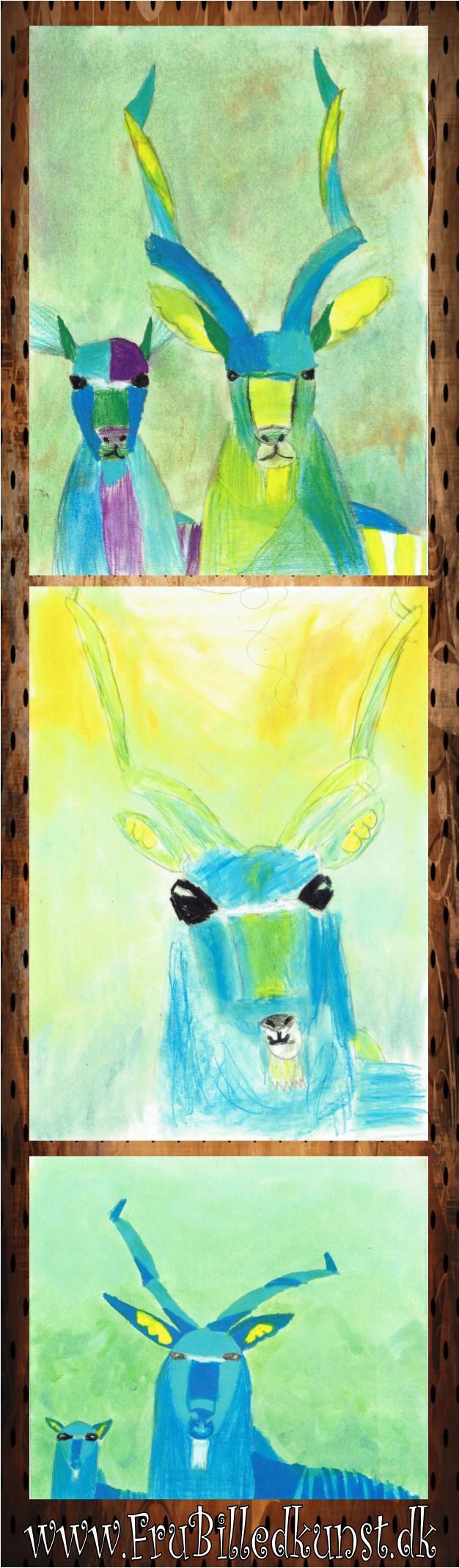www.FruBilledkunst.dk - antiloper kudu