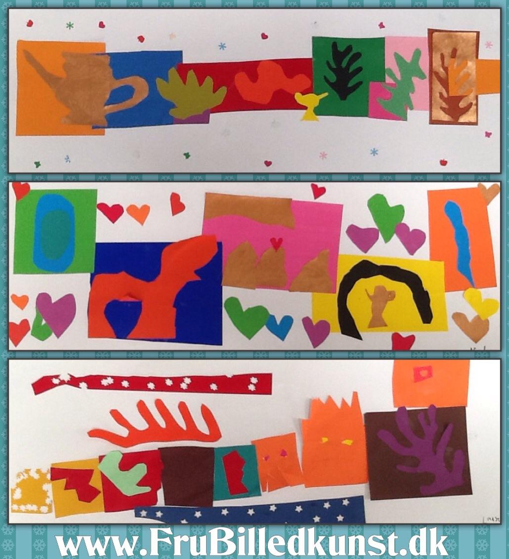 www.FruBilledkunst.dk - Matisse Collage Art Lesson