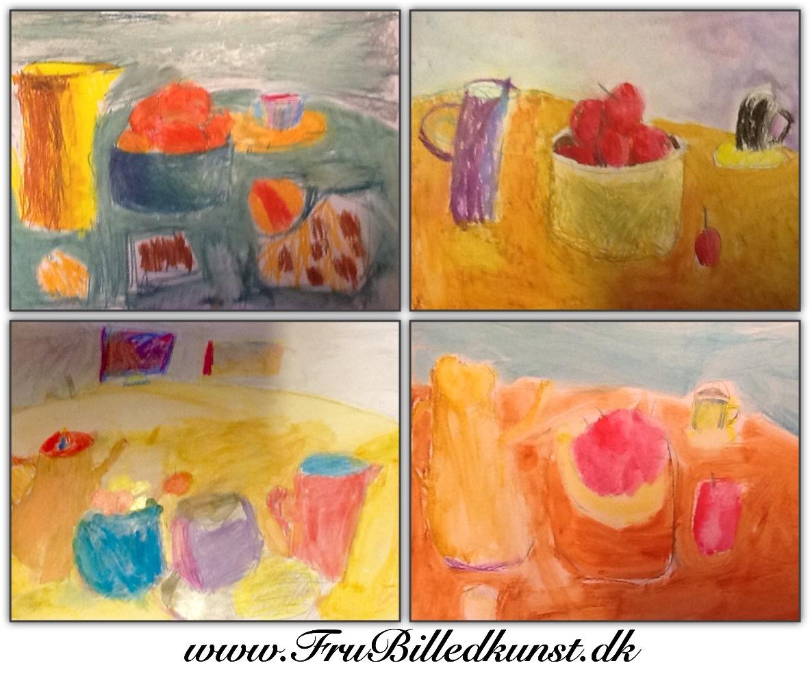 www.FruBilledkunst.dk - still life 1st grade